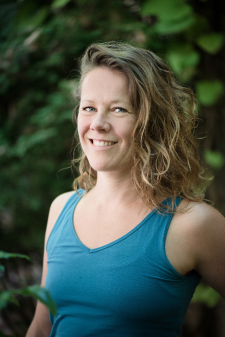Lise, a member of our team of yoga teachers in Leiden